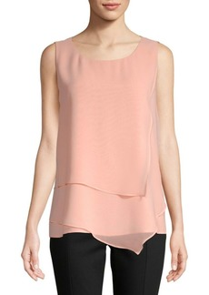 Sharkbite-Hem Sleeveless Top