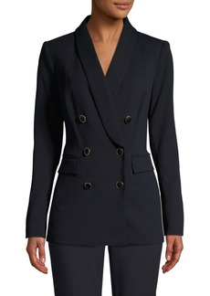Calvin Klein Shawl Lapel Double-Breasted Jacket
