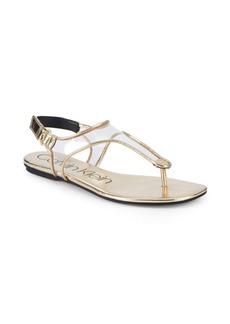 Calvin Klein Shilo Metallic Slingback Sandals