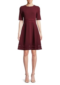 Calvin Klein Short-Sleeve A-Line Dress