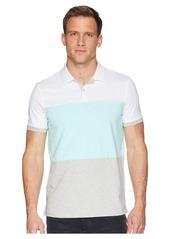 Calvin Klein Short Sleeve Color Blocked Self Collar Polo