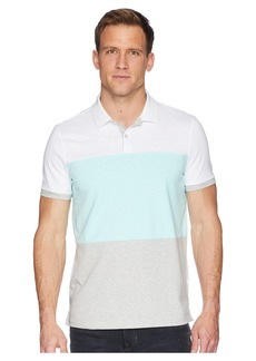Calvin Klein Short Sleeve Color Blocked Self Collar Polo