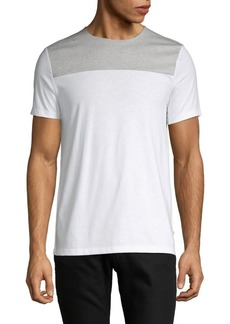 Calvin Klein Short-Sleeve Colorblock Cotton Tee