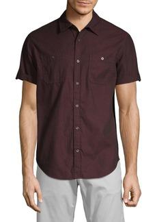 Calvin Klein Short Sleeve Corduroy Shirt