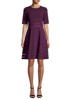 Calvin Klein Short-Sleeve Illusion Mesh Dress