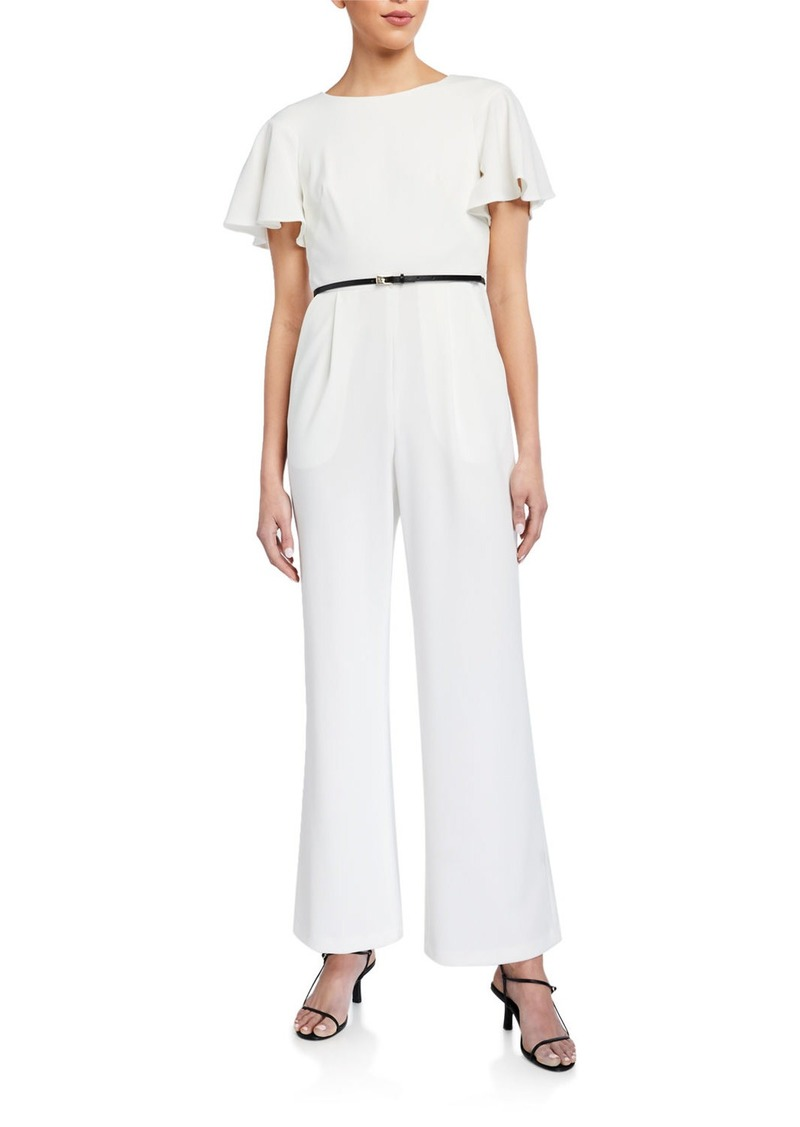 Calvin Klein Short-Sleeve Jumpsuit