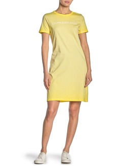 Calvin Klein Short Sleeve Logo Print T-Shirt Dress