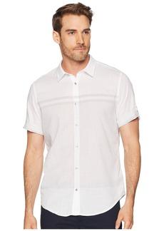 Calvin Klein Short Sleeve Roll Up Engineered Button Down