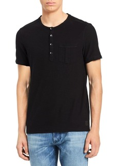 Calvin Klein Short-Sleeve Slub Cotton Henley