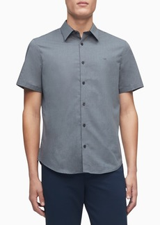 Calvin Klein Short Sleeve Stretch Poplin Button-Down Shirt