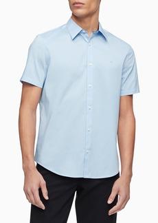 Calvin Klein Short Sleeve Stretch Poplin Button-Down Shirt