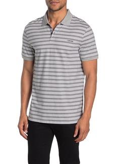 Calvin Klein Short Sleeve Stripe Print Polo