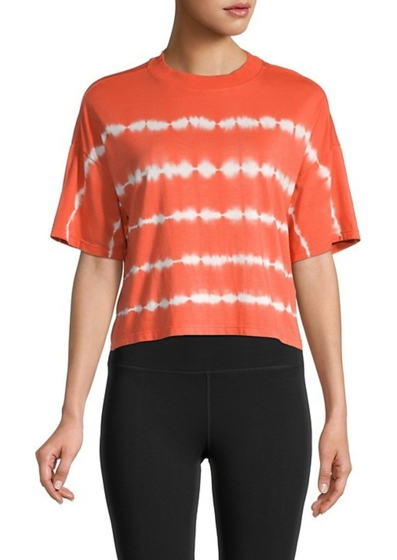 Calvin Klein Short-Sleeve Tie-Dye Print Top