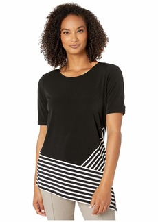 Calvin Klein Short Sleeve Top w/ Stripe Combo