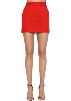 Calvin Klein Side Band Wool Gabardine Mini Skirt