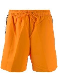 Calvin Klein side logo stripe swim shorts