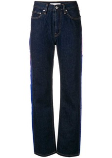Calvin Klein side stripe straight-leg jeans