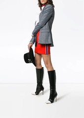 Calvin Klein side stripe wool mini skirt