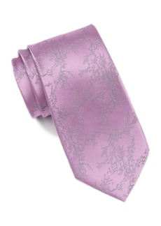 Calvin Klein Silk Botanic Branch Tie