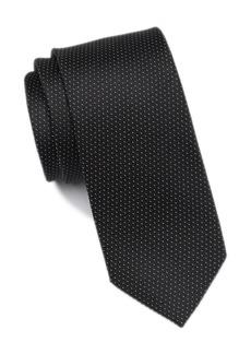 Calvin Klein Silk Filigree Micro Pattern Tie