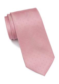 Calvin Klein Silk Pique Dot Tie