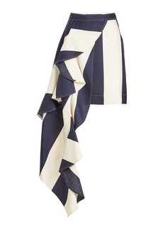 Calvin Klein Silk Skirt with Ruffle