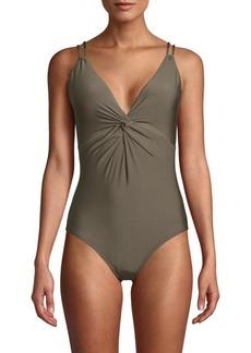 Calvin Klein Siren Twist One-Piece Swimsuit