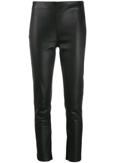 Calvin Klein skinny leather trousers