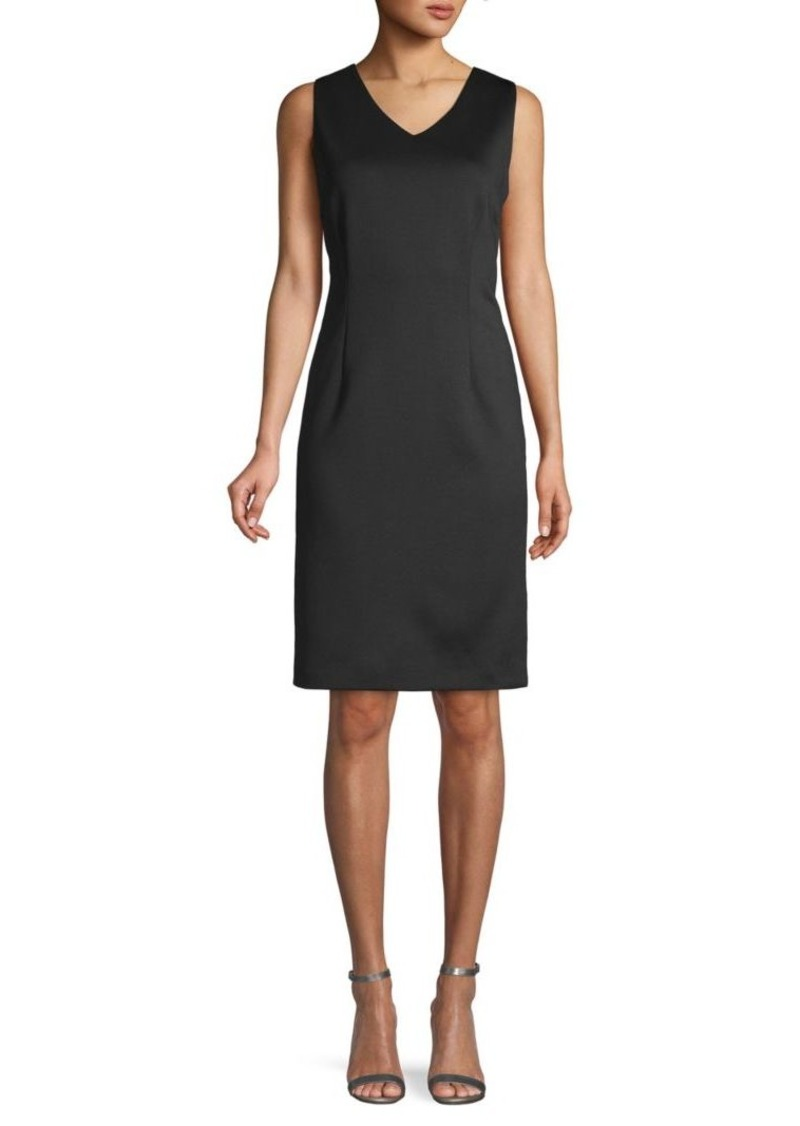 Calvin Klein Sleeveless Asymmetric Sheath Dress