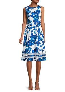 Calvin Klein Sleeveless Floral Dress
