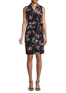 Calvin Klein Sleeveless Floral Shirtdress