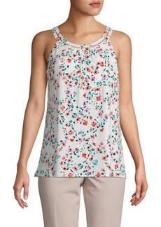 Calvin Klein Sleeveless Floral Top