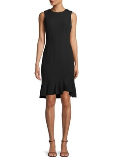 Calvin Klein Sleeveless Frill Sheath Dress
