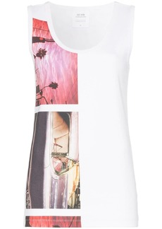 Calvin Klein Sleeveless graphic print T-shirt