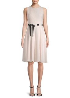 Calvin Klein Sleeveless Knee-Length Dress