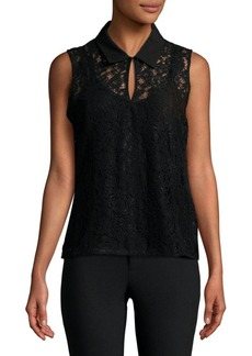 Calvin Klein Sleeveless Lace Top