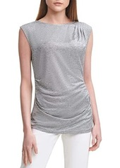 Calvin Klein Sleeveless Metallic Top