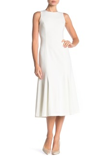Calvin Klein Sleeveless Midi Side Slit Dress