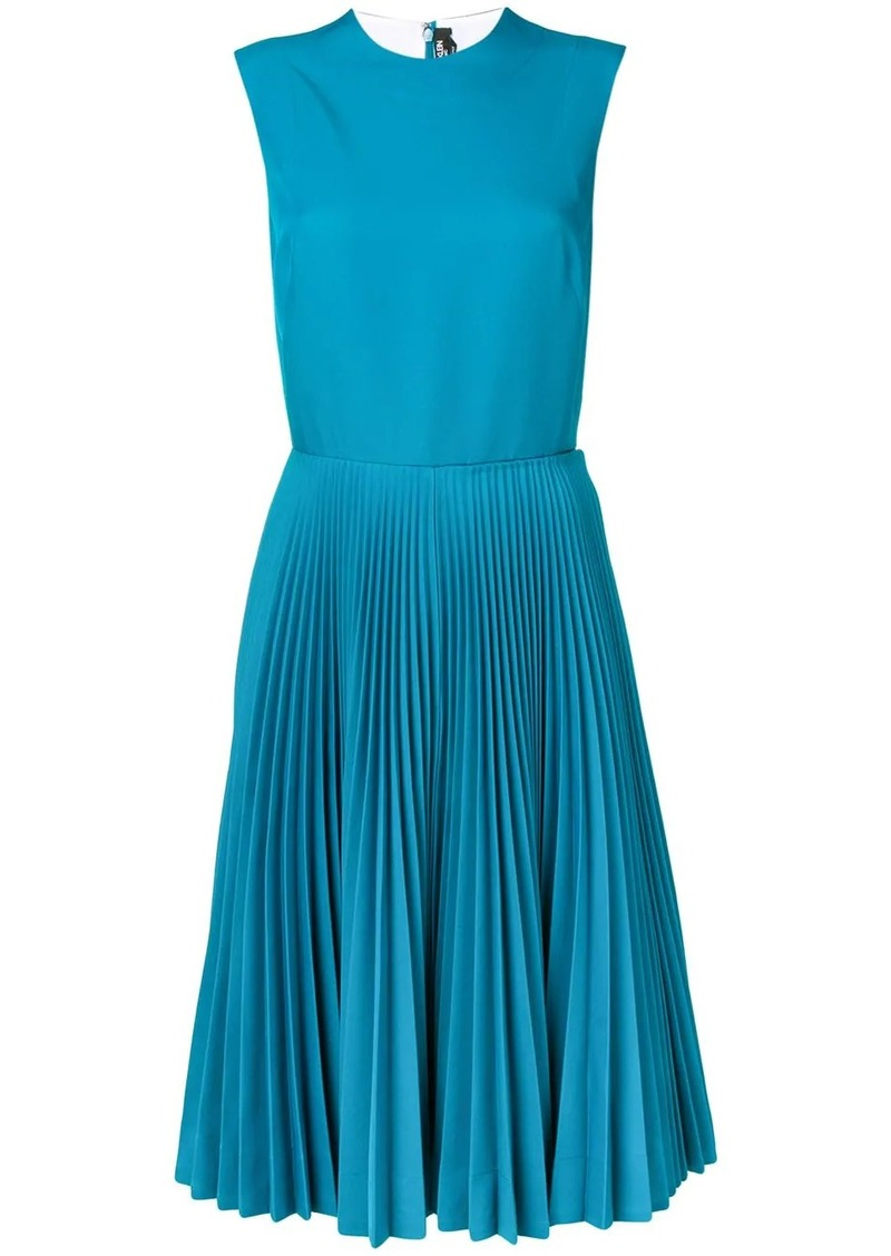Calvin Klein sleeveless pleated dress