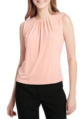Calvin Klein Sleeveless Pleated Neck Blouse