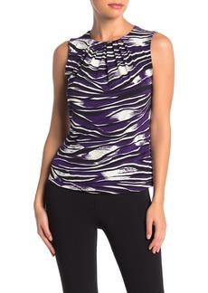 Calvin Klein Sleeveless Printed Blouse (Petite)