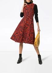 Calvin Klein Sleeveless Printed Midi-Dress