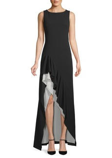 Calvin Klein Sleeveless Ruffled Gown