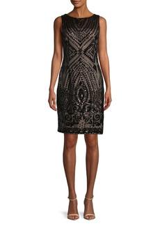 Calvin Klein Sleeveless Sequin Sheath Dress