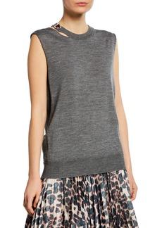 Calvin Klein Sleeveless Slash-Neck Sweater