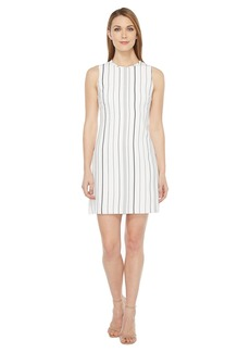 Calvin Klein Sleeveless Stripe Trapeze Dress CD7EYC2R