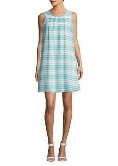 Calvin Klein Sleeveless Striped Shift Dress