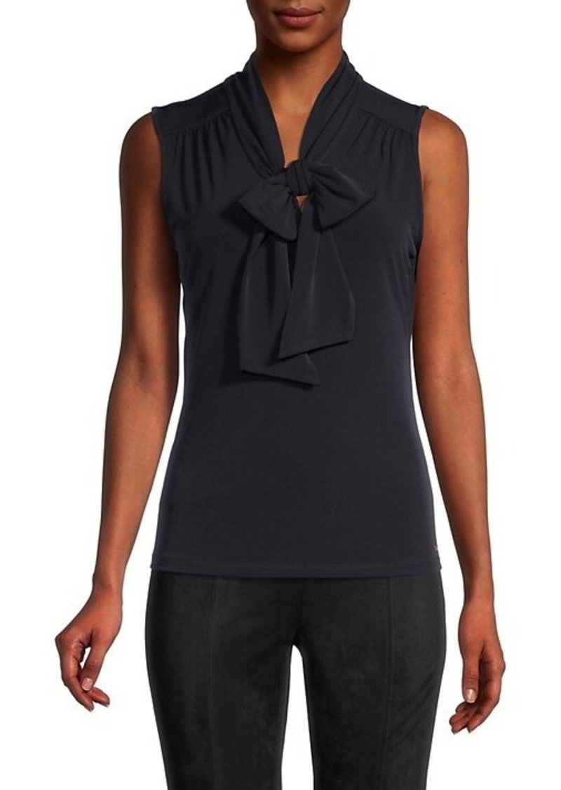 Calvin Klein Sleeveless Tieneck Top