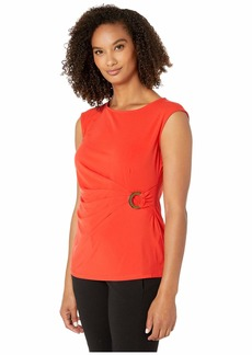 Calvin Klein Sleeveless Top w/ Circle Hardware