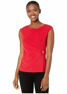 "Calvin Klein Sleeveless Top with ""V"" Hardware"